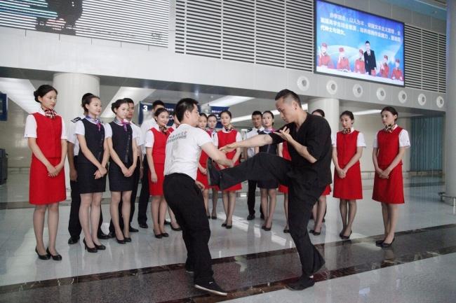 Chinese Flight Attendants training