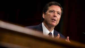 The FBI director was speaking with staff at Los Angeles when news of dismissal came in, an initially thought it to be a prank