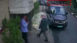 CCTV images show Khashoggi entering the Saudi consulate Tuesday oct 2nd at 13:14 local time Source : CNN