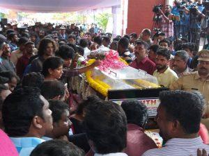 Balabhaskar's funeral Oct 2