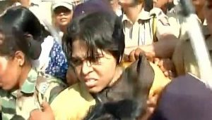 Trupti was beaten up badly by local women at Mahalaxmi temple