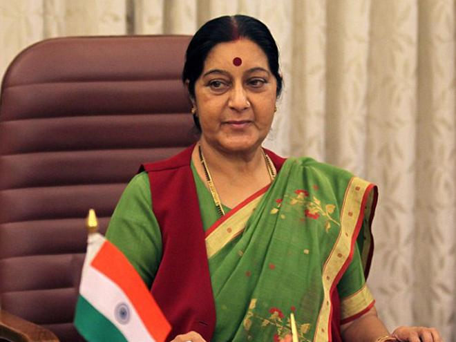 Sushma-swaraj sushma intervenes to help indian woman come back to india from pak