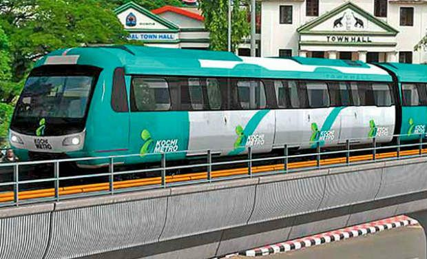 kochi kochi metro palarivattom to maharajas inauguration today