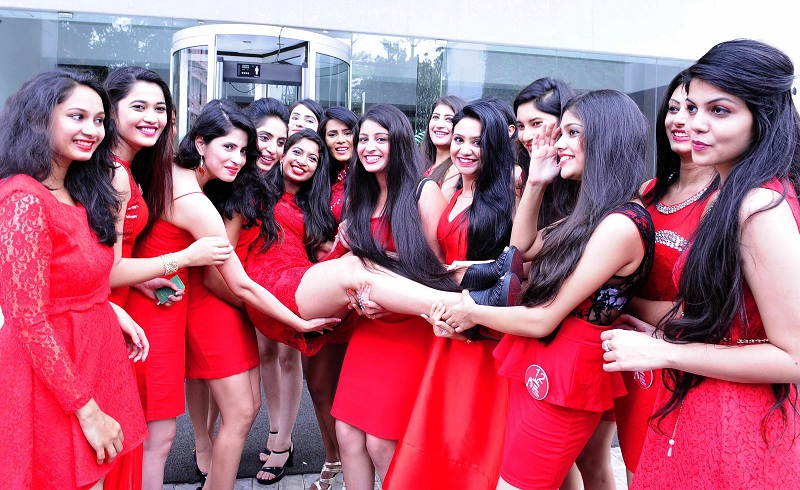 KOCHI 2016 APRIL 26 : Miss queen of India beauty pageant contestants assembled in Kochi on the eve of the contest @ Josekutty Panackal