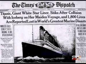 titanic newspaper watrmrk