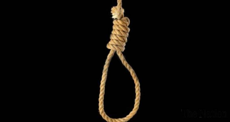 husband hanged in front of middle aged man arrested by police found hanging