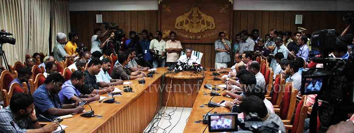 pinarayi press meet 2