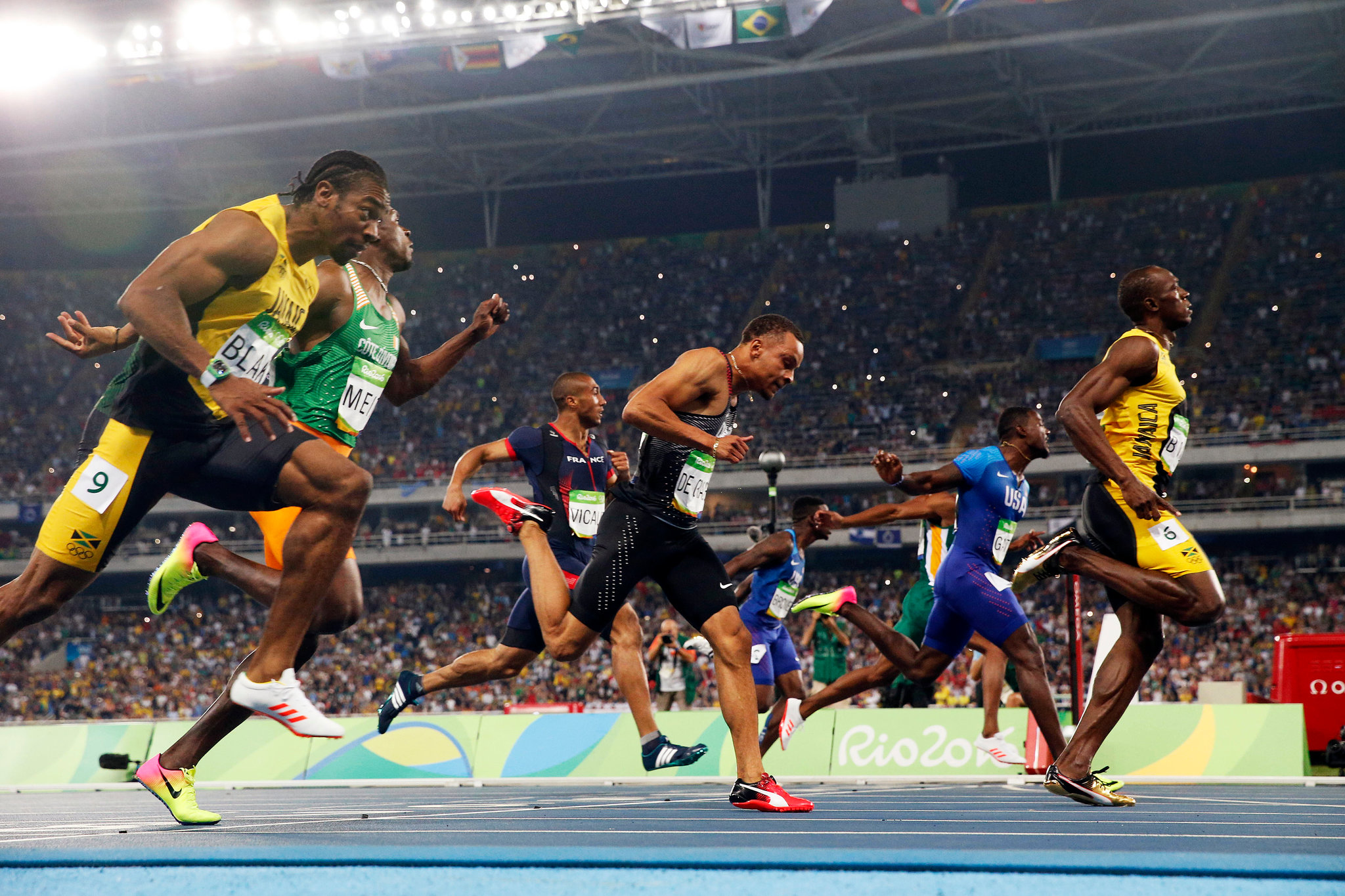 usain bolt finishing