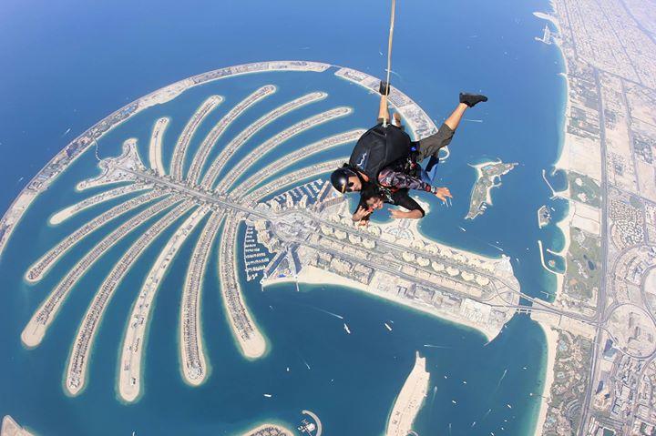 meera nandan sky diving