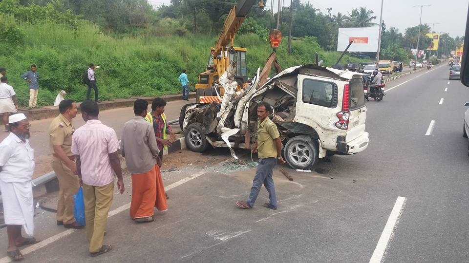 accident in NH, trissur