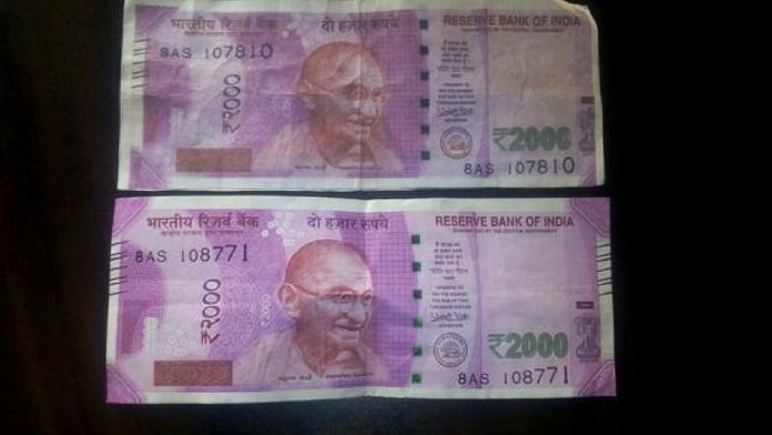 2000 rupee fake note