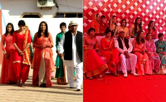 aamir khan spotted at geeta phagot wedding