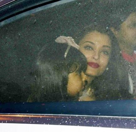 celebrities spotted at aradhya birthday celebration