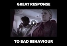 Great response to bad behaviour