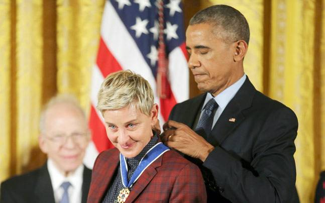 receives America's highest civilian award