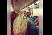 woman dance in metro