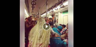woman dance in metro