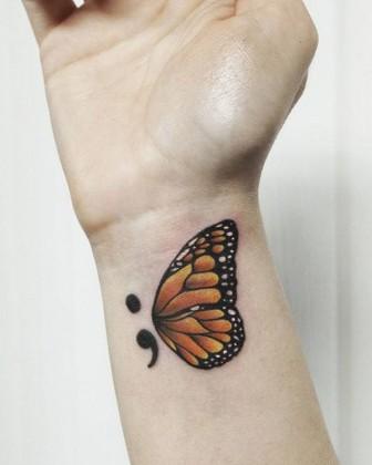 the idea behind semi colon tattoo