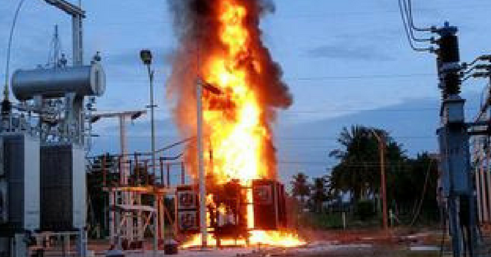 fire at transformer