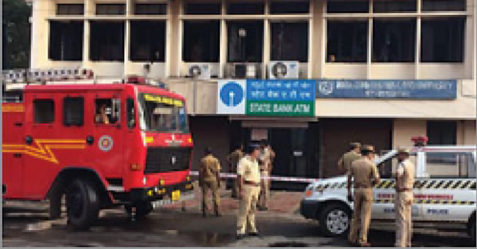 fire at sbt bank kottayam