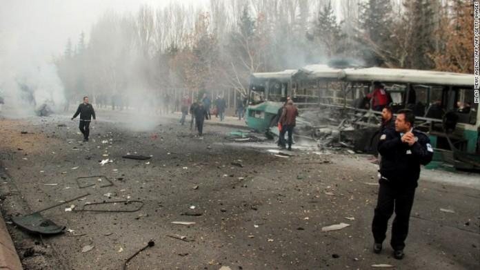 turkey human bomb blast 13 dead
