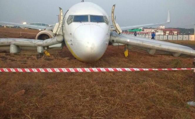 Jet Airways flight skids off runway at Dabolim airport in Goa