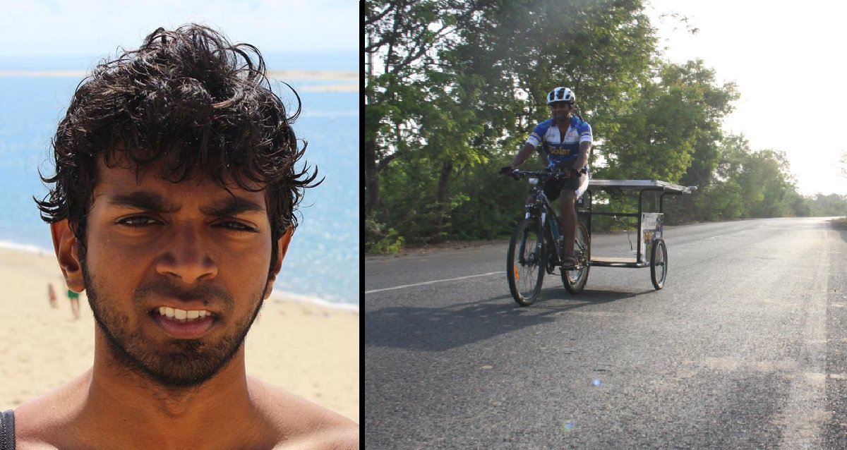 Sushil reddy Cycled 7424 km Across India