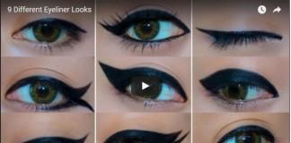 Nine ways to apply eye liner
