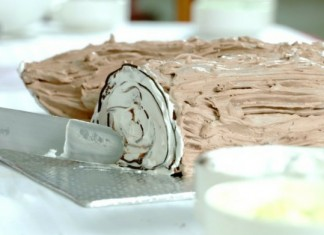 easy recipe of yule log cake