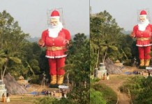 Worlds largest Santa Claus