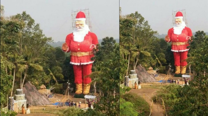 Worlds largest Santa Claus