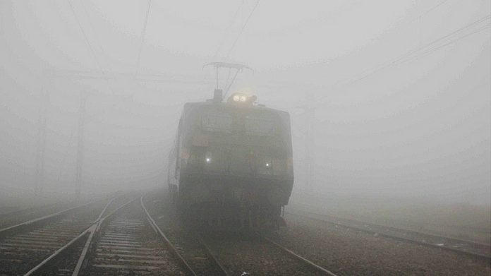 Delhi fog train airplane operations suspended trains cancelled heavy fog in north india 19 trains cancelled due to Delhi fog