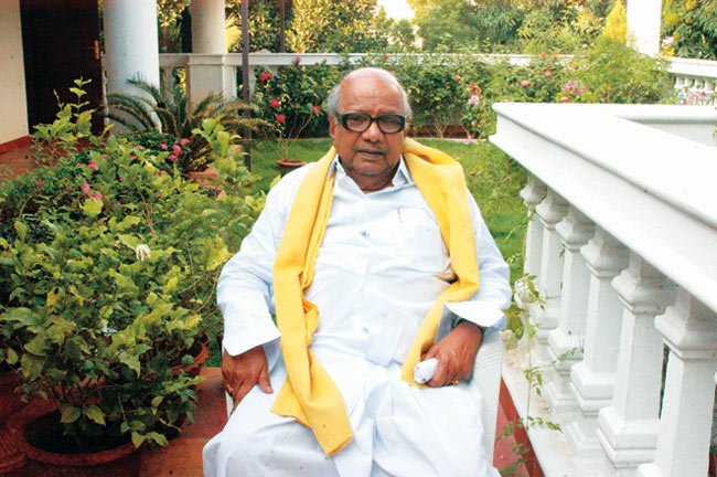 m-karunanidhi karunanidhi leaves hospital