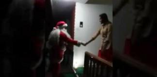 santa clause amazing dance