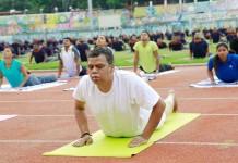 kerala police practice yoga