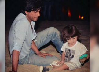 SRK son abram new year gift