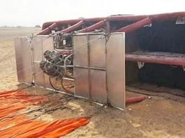 air balloon collapsed at sharjah six injured