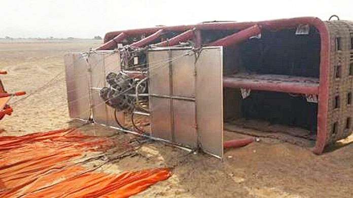 air balloon collapsed at sharjah six injured