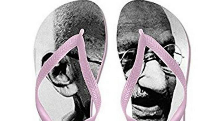 gandhi in slippers