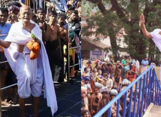 gandhiji look alike chacha sivarajan at sabarimala