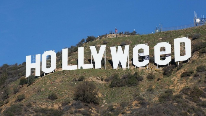 hollywood sign vandalized to hollyweed