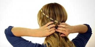 Braided Headband Updo