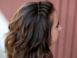 waterfall hairstyle