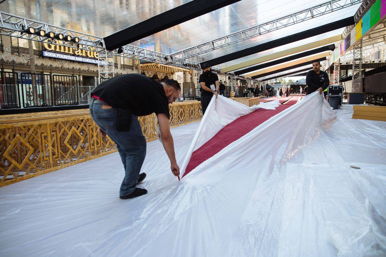 Scenes from the Oscars red carpet