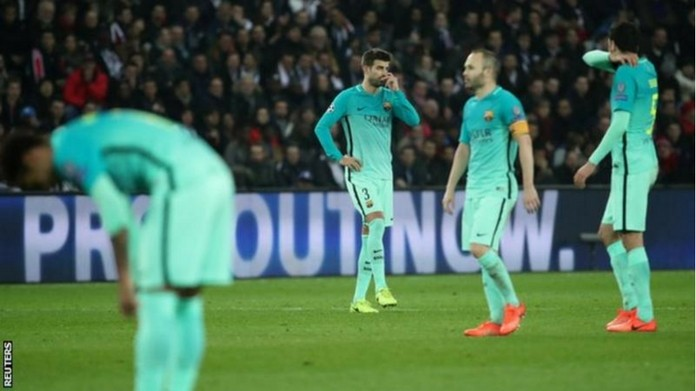champions league barcelona lose the game