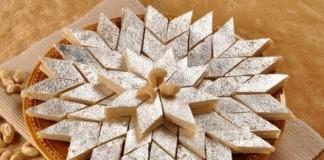 easy recipe of cashew barfi