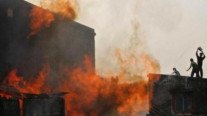 fire break at cooler godown 6 killed fire out break at kozhikode fire outbreak at homeo hospital kizhakambalam