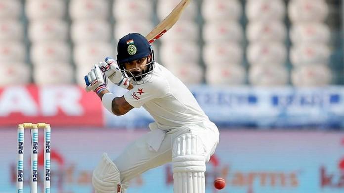 hyderabad cricket test india scores 687 runs