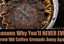 never throw your coffee grounds away