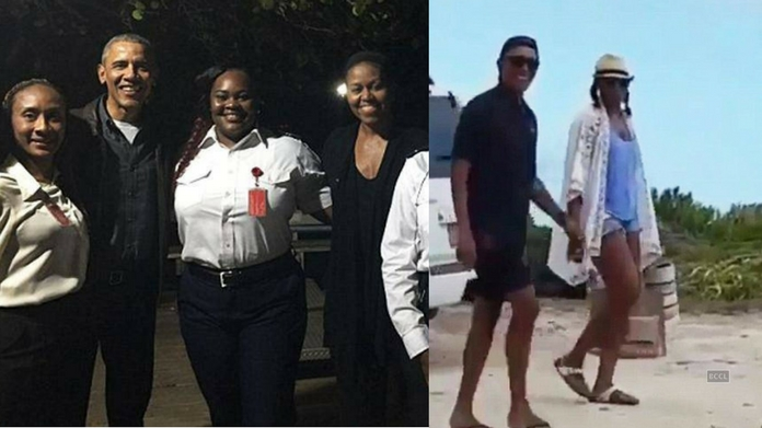 obama vacation pictures